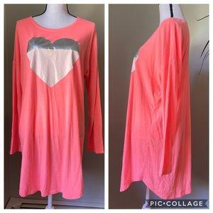 Victoria Secret heart sleep shirt